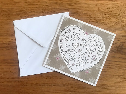 'Every moment matters' Greeting card