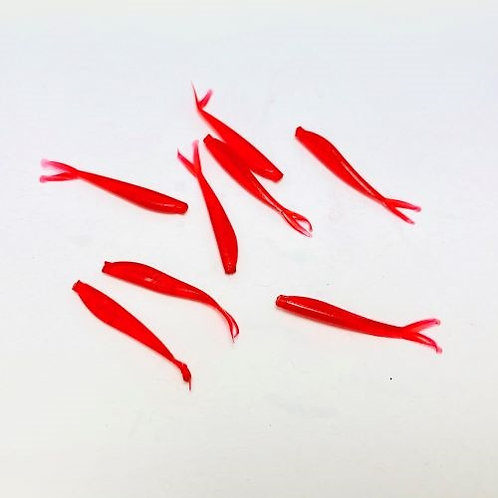 "Blood Worm Baby Tracer - 1"" - Red with no fleck"