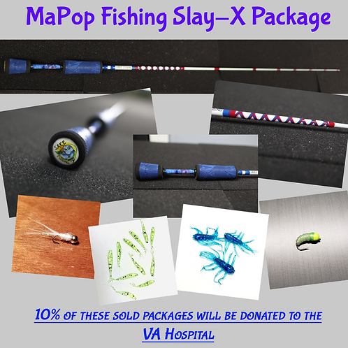 """ICE FISHING PACKAGE - SLAY-X 32"""" POWER NOODLE -10% DONATED TO VA HOSPITAL"""