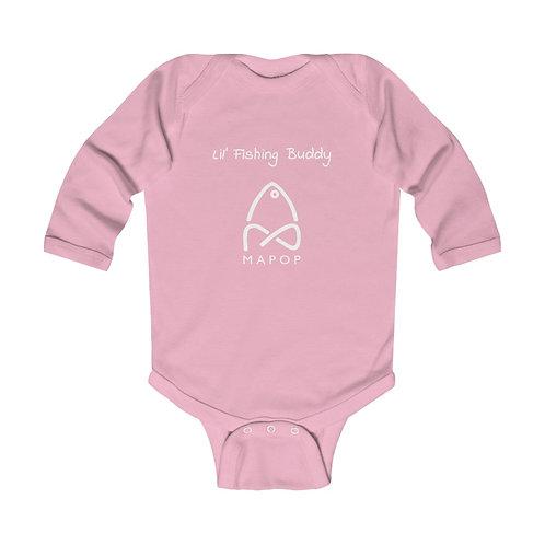 Lil' MaPop Fishing Onesie - Infant Long Sleeve Bodysuit