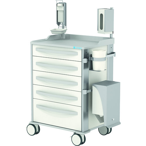 MPO Nursing trolley with drawers