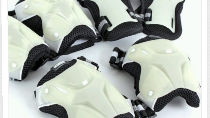 Recreational glow in the dark protection pads size large