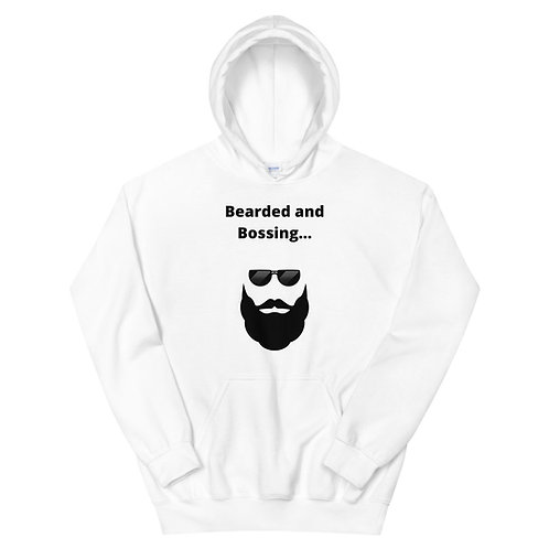 """Bearded and Bossing"" Hoodie"