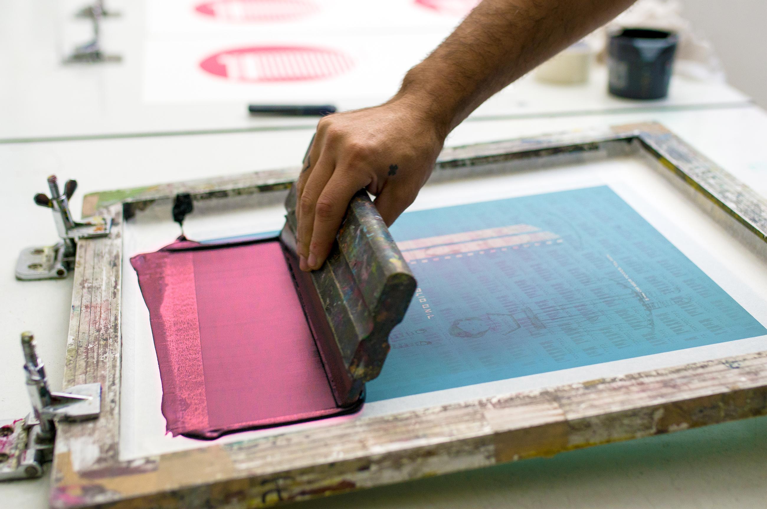 דפוס רשת, דפוס משי, הדפסות נייר, Fin