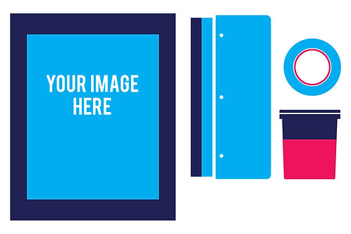 DIY Screen Printing Kit - Basic Kit | ערכת בסיס ביתית לדפטס רשת