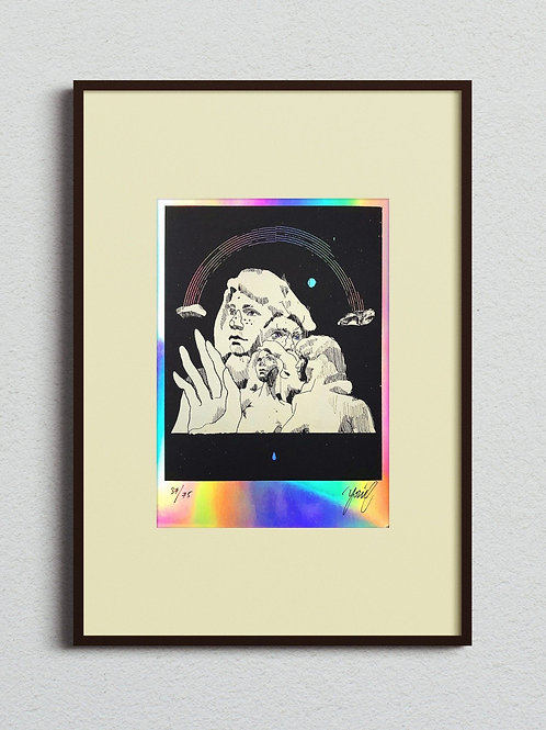 "Yonil | ""RAINBOW OVER THE MOUNTAINS"" LIMITED EDITION SCREEN PRINT 2021"