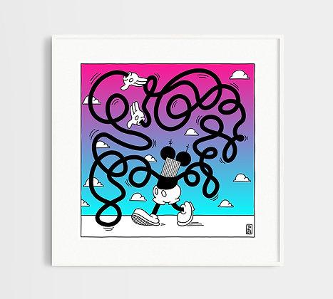 טאלס | הדפס רשת במהדורה מוגבלת | Tangled Mickey