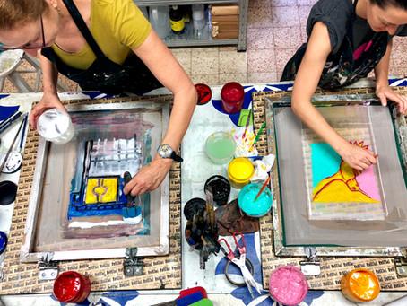 הדפסה על בד בתל אביב עם דפוס רשת