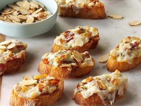 The Vista - Almond-Bacon Crostini
