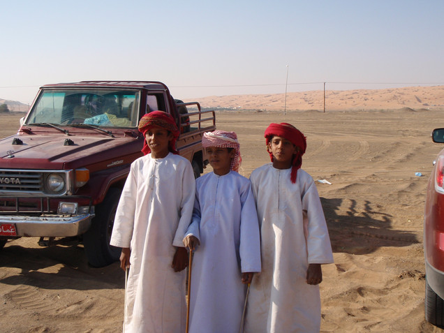 Kids at Camel Race
