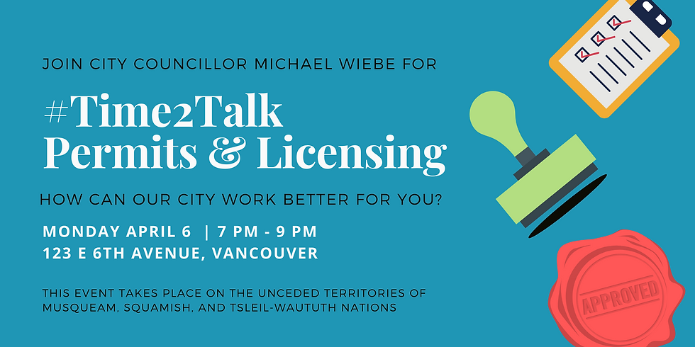 #Time2Talk Permits & Licensing