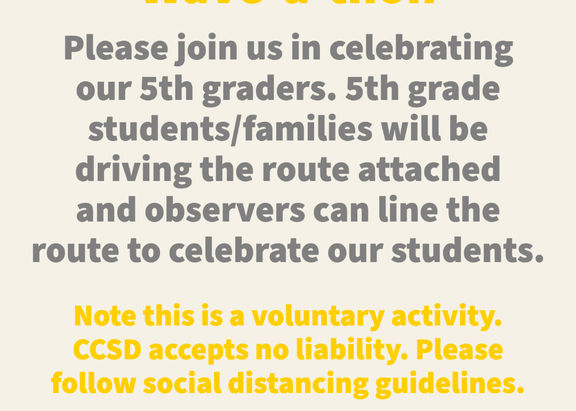 5th Grade Wave-a-thon and Week 7 Activities