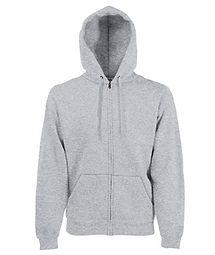 Reklamní mikina s kapucí heather grey