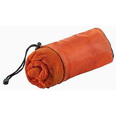Reklamní froté ručník z mikrovlákna oranžový