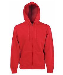 Reklamní mikina s kapucí heather červená