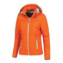 Reklamní dámská zimní bunda oranžová