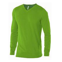 Reklamní svetr s výstřihem zelený