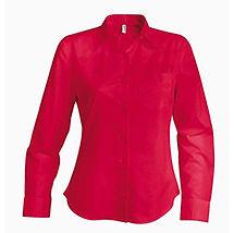 Dámská červená košile s dlouhým rukávem