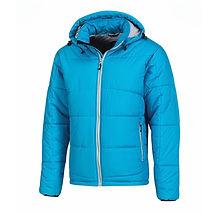 Reklamní pánská zimní bunda světle modrá