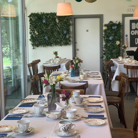 70th Afternoon Tea Party in Cafe