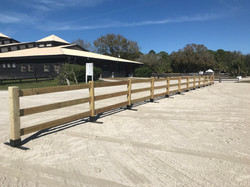 3-board horse show schooling area