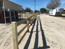 3-board horse show pedestrian/horse path separation