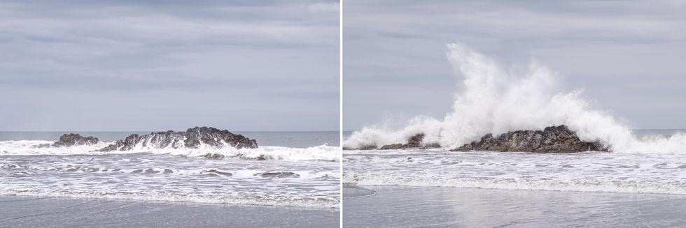 Mar olas roca