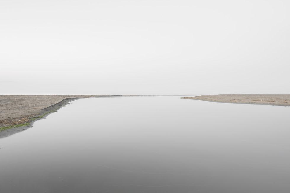 Rio agua arena desembocadura