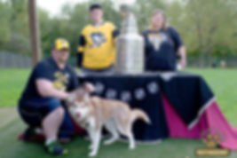 Sports Romance Author celebrating with the Stanley Cup