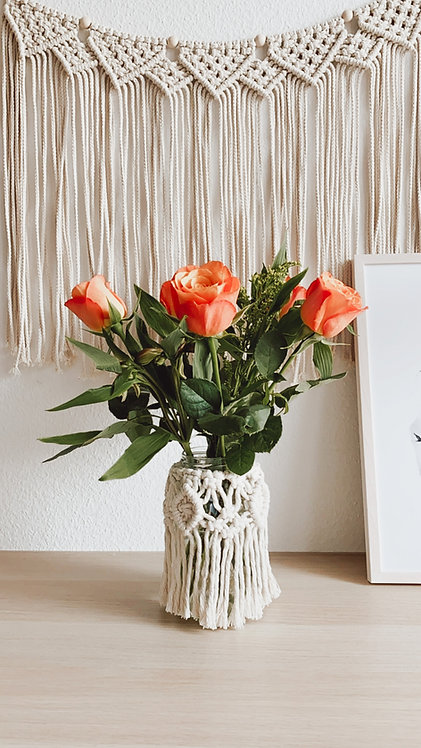 Makramee Windlicht/Vase