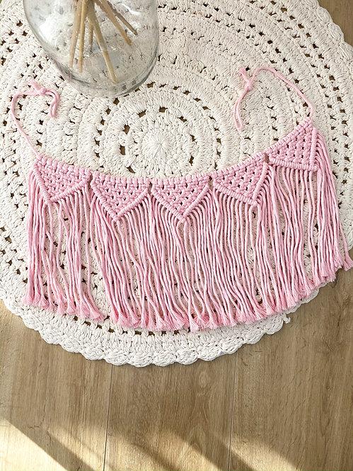 Girlande / Wimpelkette Baby Pink