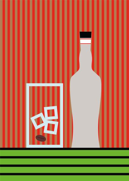 Happy Hour - Sambuca Digital Illustration Alessio Sanzeri