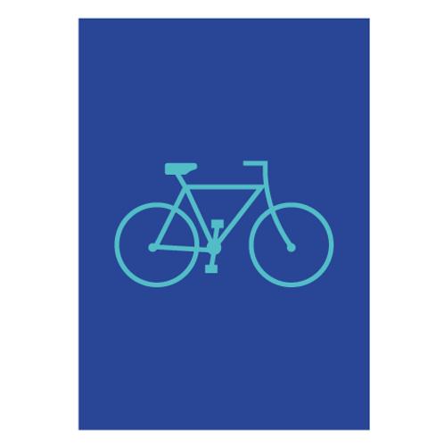 Bike Blue - Digital Print
