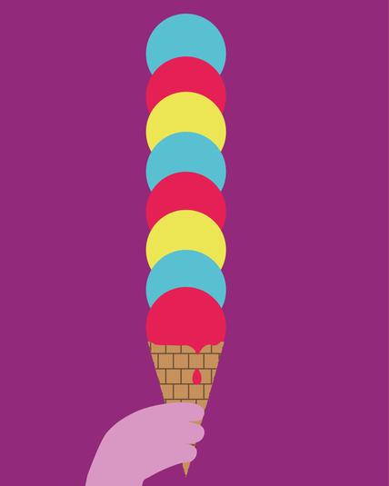 The Icecream Digital Illustration Alessio Sanzeri