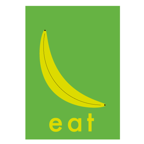 Banana / Pop Green - Digital Print