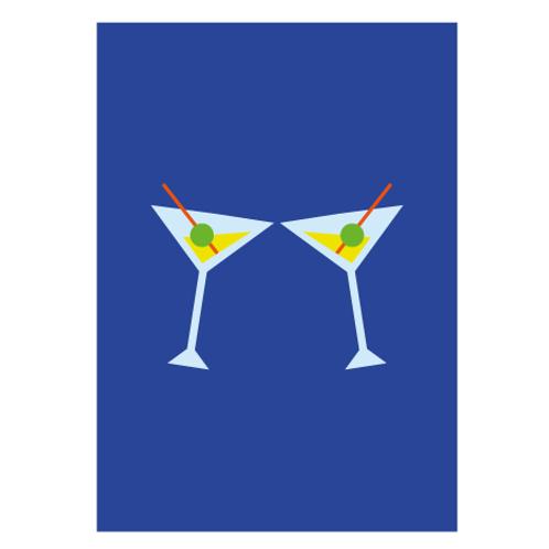 Drink Blue - Digital Print