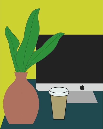 Smart Working Digital Illustration Alessio Sanzeri