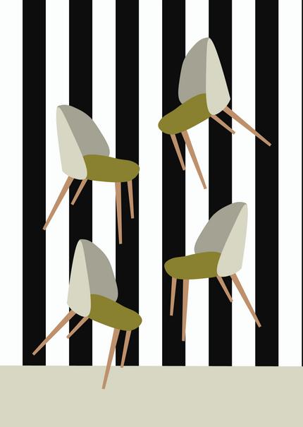 Design - Scandi Chairs Digital Illustration Alessio Sanzeri