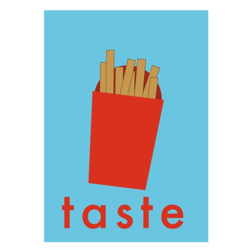 Fries / Pop Light Blue - Digital Print
