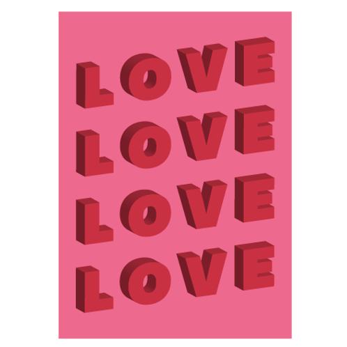 Love Pink - Digital Print