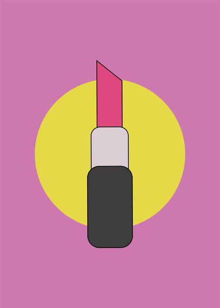 The Lipstick Digital Illustration Alessio Sanzeri