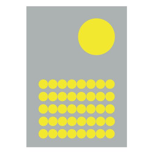 Pops  Grey- Digital Print