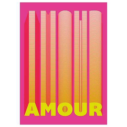 Pop Mon Amour Pink - Digital Print