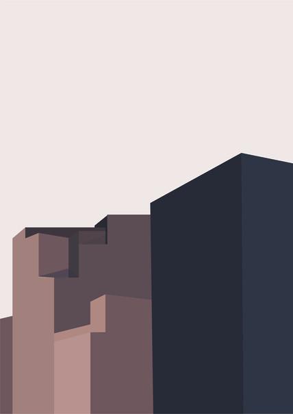 Ghost Town Digital Illustration Alessio Sanzeri