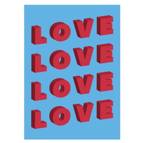 Love Blue - Digital Print