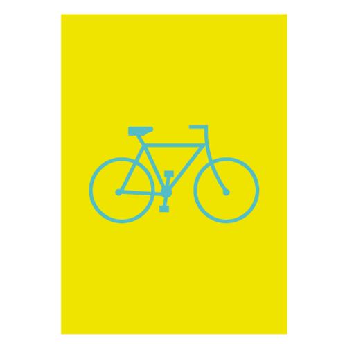Bike Yellow - Digital Print
