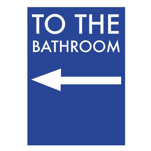 To The Bathroom Blue - Digital Print