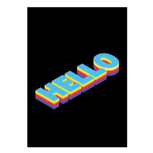Hello Black - Digital Print