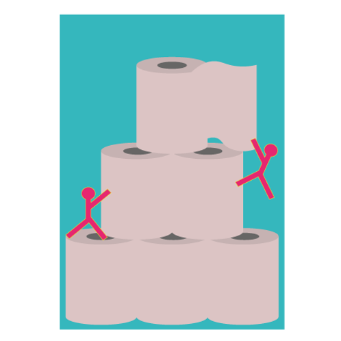 The Toilet Paper - Digital Print