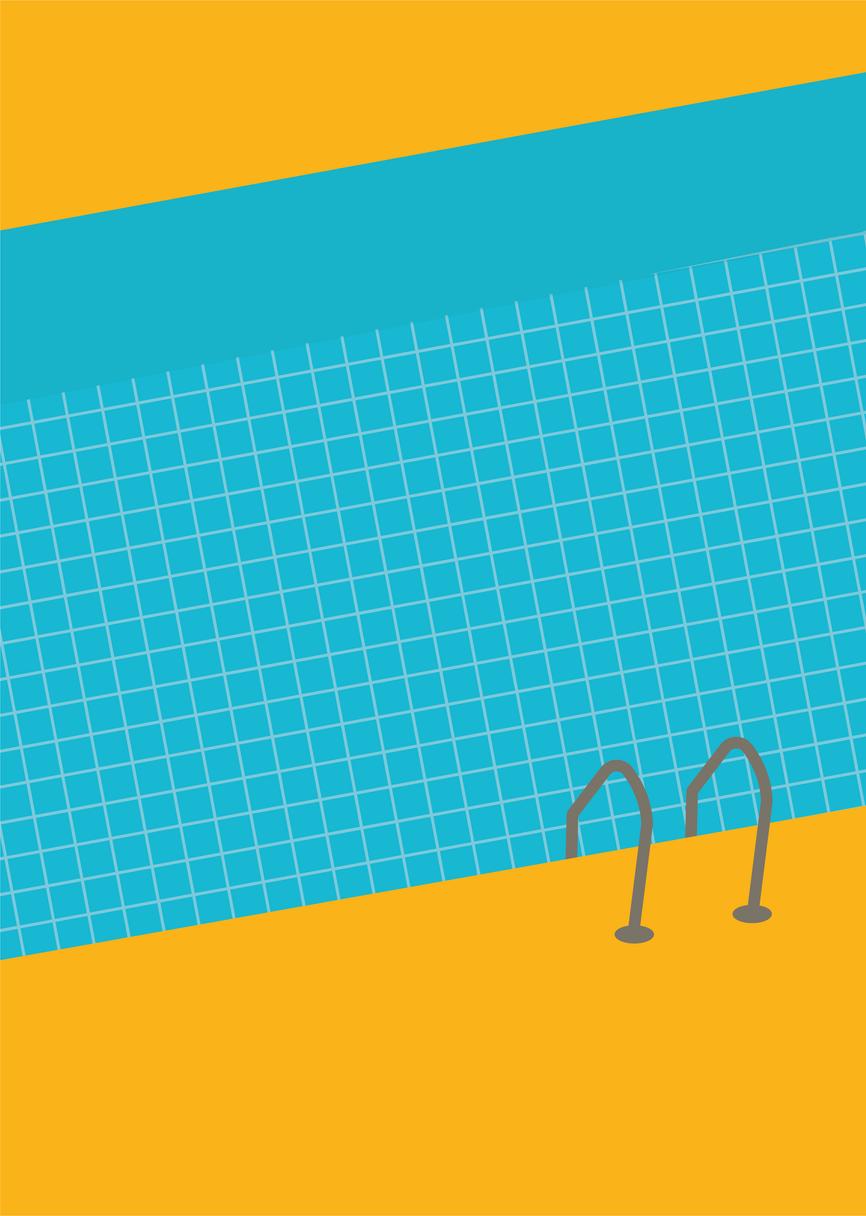 The Swimmingpool Digital Illustration Alessio Sanzeri